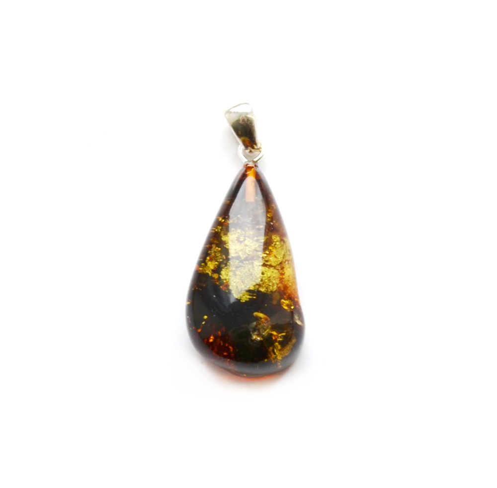 Baltic amber pendant | amber pendant | amber pendant with silver | women's pendant | 1209